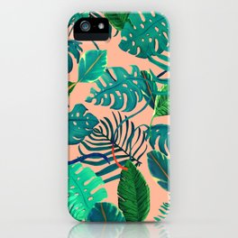 Summer Tropical Leaves iPhone Case