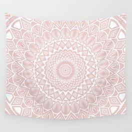Light Rose Gold Mandala Minimal Minimalistic Wall Tapestry