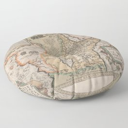 Vintage Map Print - Abraham Ortelius - Map of Eastern Africa (1580) Floor Pillow