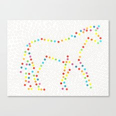 Dot Unicorn Canvas Print