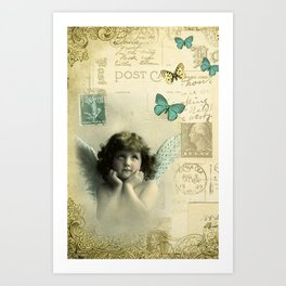 Butterfly Angel Art Print