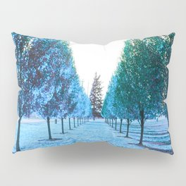 Path to Reality : Turquoise Teal Trees Pillow Sham