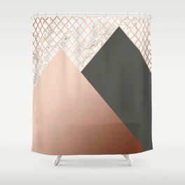 Copper & Marble 06 Shower Curtain