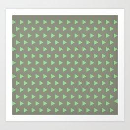 Green Triangle Art Print