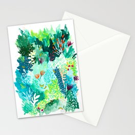 Twice Last Wednesday: Abstract Jungle Botanical Painting Stationery Cards