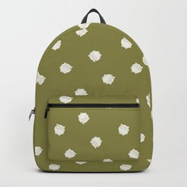 Round Bunny Pattern Cream Green Backpack
