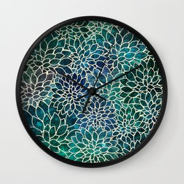 Floral Abstract 4 Wall Clock