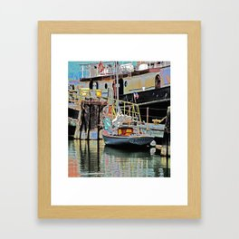 A Harbor view of Coos Bay Framed Art Print