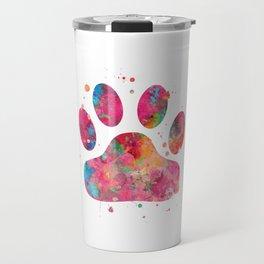 Colorful Paw Travel Mug
