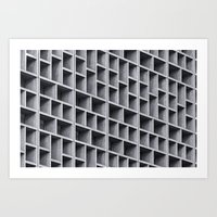 grid Art Prints featuring Grid by Cameron Booth