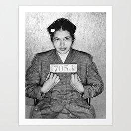 Rosa Parks Mugshot Art Print