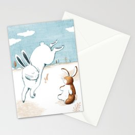 Jumping hare Stationery Cards