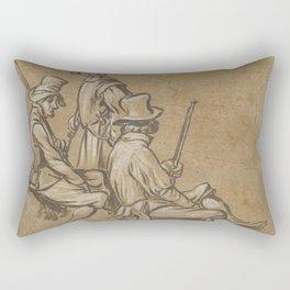 Group of three soldiers, Jan van de Velde (II), 1603 - 1641 Rectangular Pillow