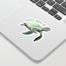 Water Island Turtle Sticker
