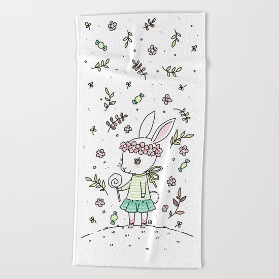 Summer Bunny Beach Towel