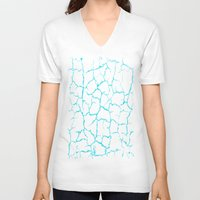 cracked V-neck T-shirts featuring Cracked by Last Call