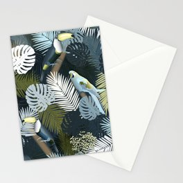 Toucan&Parrot (Blue-Green) Stationery Cards