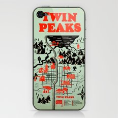 Twin Peaks Map iPhone & iPod Skin