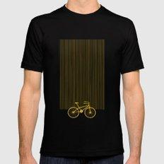 Yellow Bike by Friztin Black MEDIUM Mens Fitted Tee