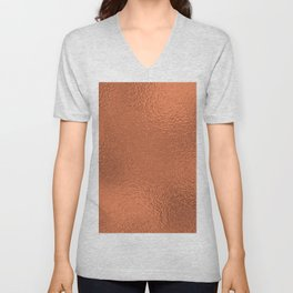 Simply Metallic in Deep Copper Unisex V-Neck