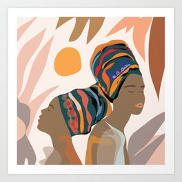 Women with the Turbans Art Print