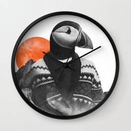 The Hipster Puffin Wall Clock