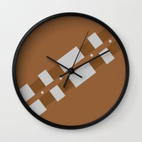 chewbacca Wall Clocks featuring Chewbacca by VineDesign