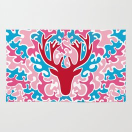 Colorful deer Rug