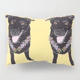 Happy Black Lab Dog Pillow Sham