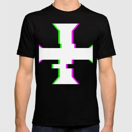 Glitch Crusader Templar Cross T-shirt