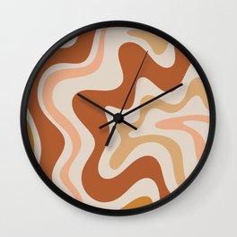 Liquid Swirl Abstract in Earth Tones Wall Clock