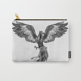 Phoenix Rising - Black and White Carry-All Pouch