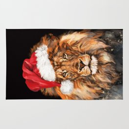 Christmas King Lion Rug
