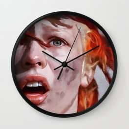 Leeloo Played By Milla Jovovich - The Fifth Element Wall Clock