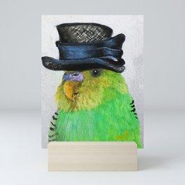 Parakeet Hat Parade #2 Roz Mini Art Print