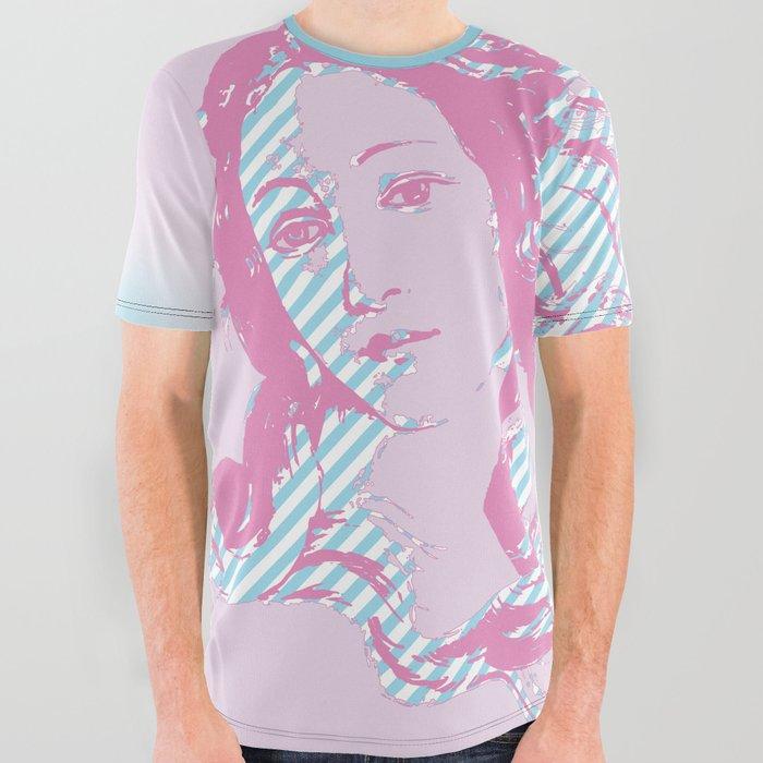 Rebirth of Venus - Pink & Cyan - Trans Pride! All Over Graphic Tee