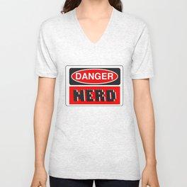 Danger Nerd by Chillee Wilson Unisex V-Neck