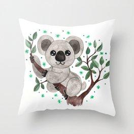 Koala Nursery Illustration Throw Pillow
