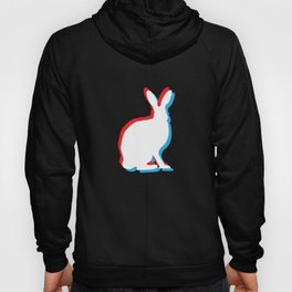 Easter Bunny Retro Movie Effect Color Divide Hoody