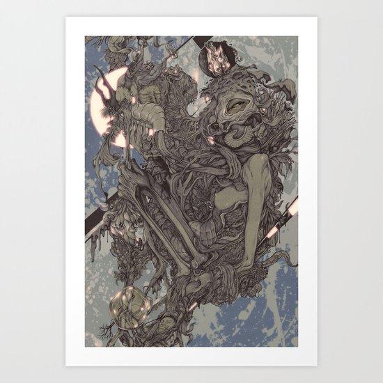 REMEMBER MIND (full moon) Art Print