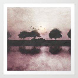 Positive Sunset Art Print