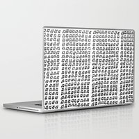 music notes Laptop & iPad Skins featuring MUSIC Notes  by Geryes