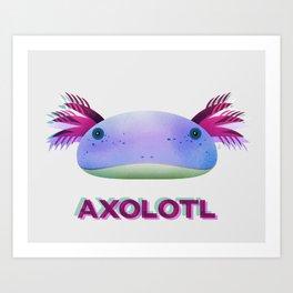 Axolotl Friend Art Print