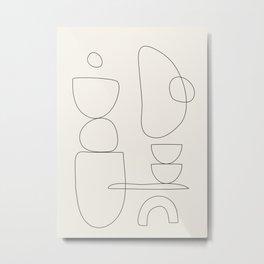 Minimal Abstract Shapes 03 Metal Print