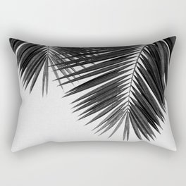 Palm Leaf Black & White II Rectangular Pillow