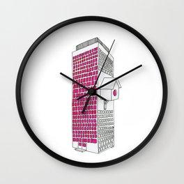 High rise birdhouse. Wall Clock