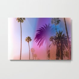 Sunshine and Palm Trees Metal Print