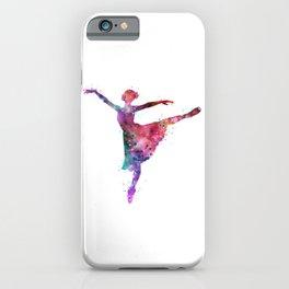 Ballerina Girl Colorful Watercolor iPhone Case