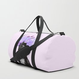 Bulldog with Flowers Crown Duffle Bag
