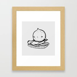 onion role reversal Framed Art Print